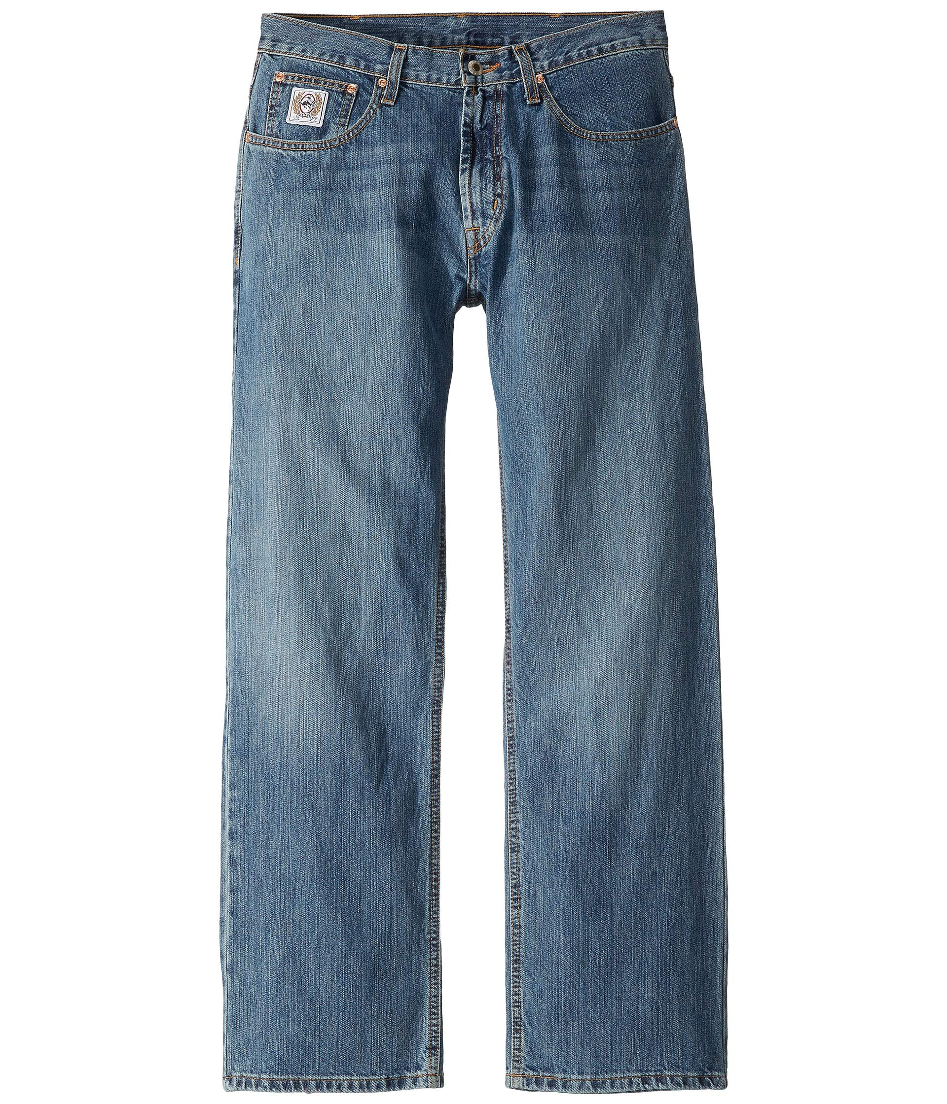 Cinch Apparel Mens White Label Mid Rise Light Stonewash Sandblasted Jeans 35x36 Light Stone Wash