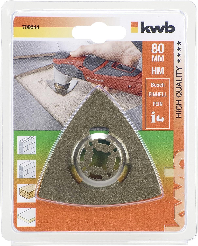 80mm Met/álico KWB 49709544/_1 Escofina HM carburo tunsteno delta 80 mm