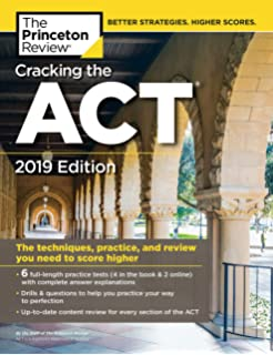 Cracking The ACT With 6 Practice Tests 2019 Edition Content