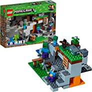 LEGO Minecraft The Zombie Cave 21141 Building Kit with Popular Minecraft Characters Steve and Zombie Figure, separate TNT Toy