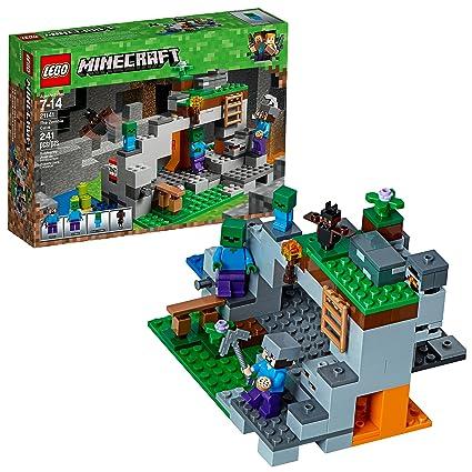 Amazon.com: LEGO Minecraft the Zombie Cave 21141 Building Kit (241 ...