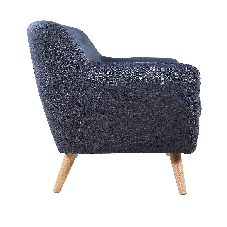 Amazon Mid Century Modern Linen Fabric Sofa Loveseat in