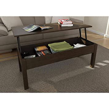 Amazoncom Full Extending and Storage Inside LiftTop Coffee Table