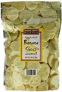 Trader Joe's Freeze Dried Banana Slices Unsweetened 2.46oz