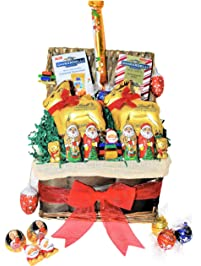 Amazon gourmet gifts grocery gourmet food lindt christmas chocolate variety gift baskets chocolate candy gift basket with truffles santas negle Choice Image