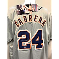 $169 » Miguel Cabrera Detroit Tigers Signed Autograph Grey Custom Jersey JSA Witnessed Certified