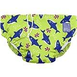 Bambino Mio Reusable Swim Diaper, Neon Shark, Extra Large (2 Years+)