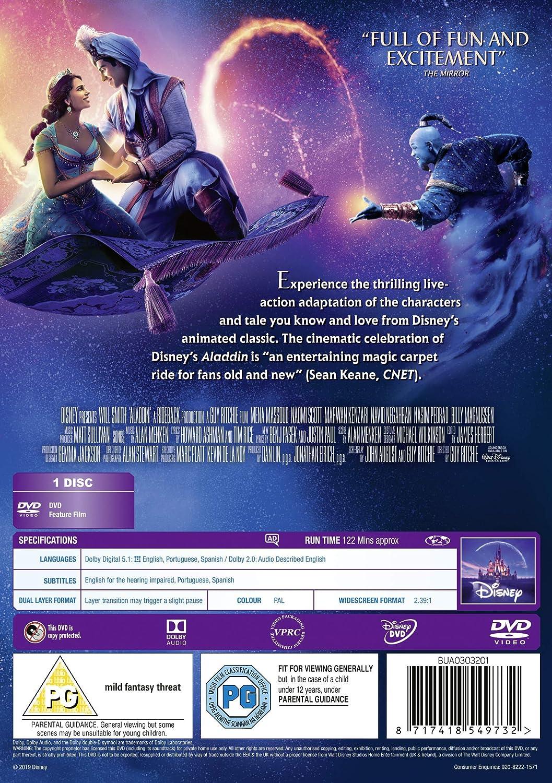 Aladdin Live Action 2019 [DVD]: Amazon co uk: Will Smith