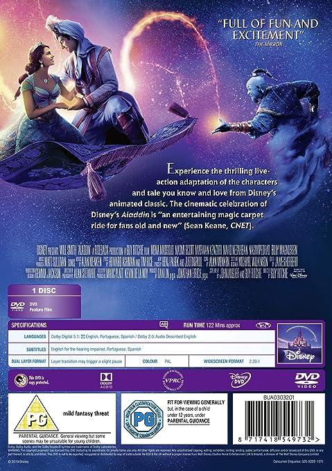 Aladdin Live Action 2019 [DVD]: Amazon co uk: DVD & Blu-ray