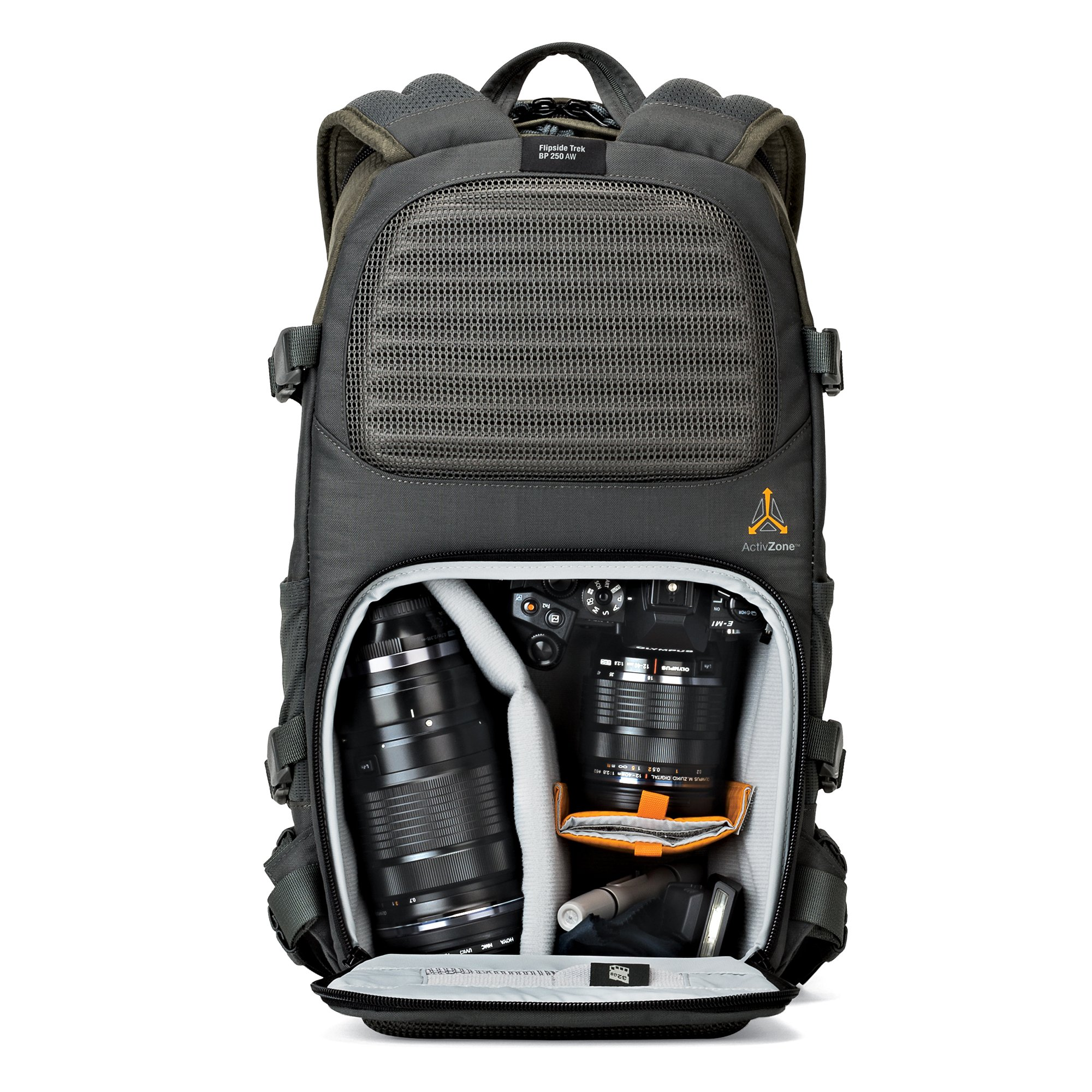 Lowepro Flipside Trek BP 250 AW - Outdoor Camera Backpack for Mirrorless or Compact DSLR w/ Rain Cover and Tablet Pocket. by Lowepro (Image #4)