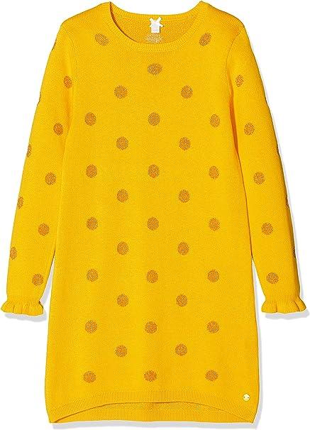 Esprit Kids Madchen Rp3109309 Knit Dress Kleid Gelb Mustard 721 104 110 Herstellergrosse 104 Amazon De Bekleidung