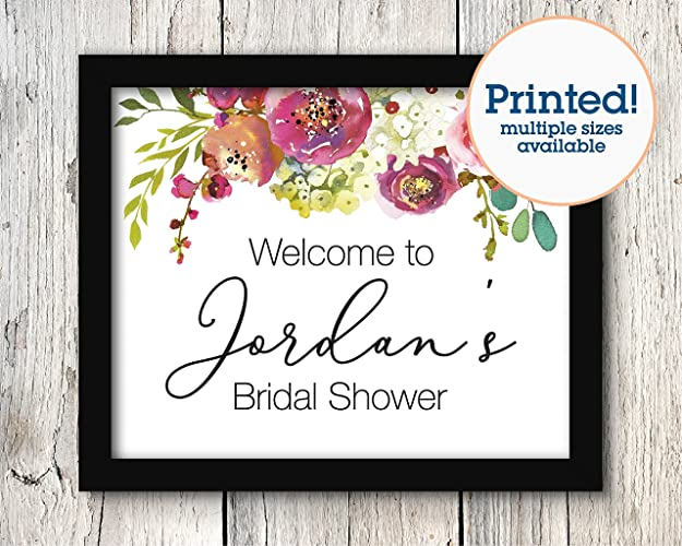 personalized welcome sign bridal shower signage weddings signs s033 379 1