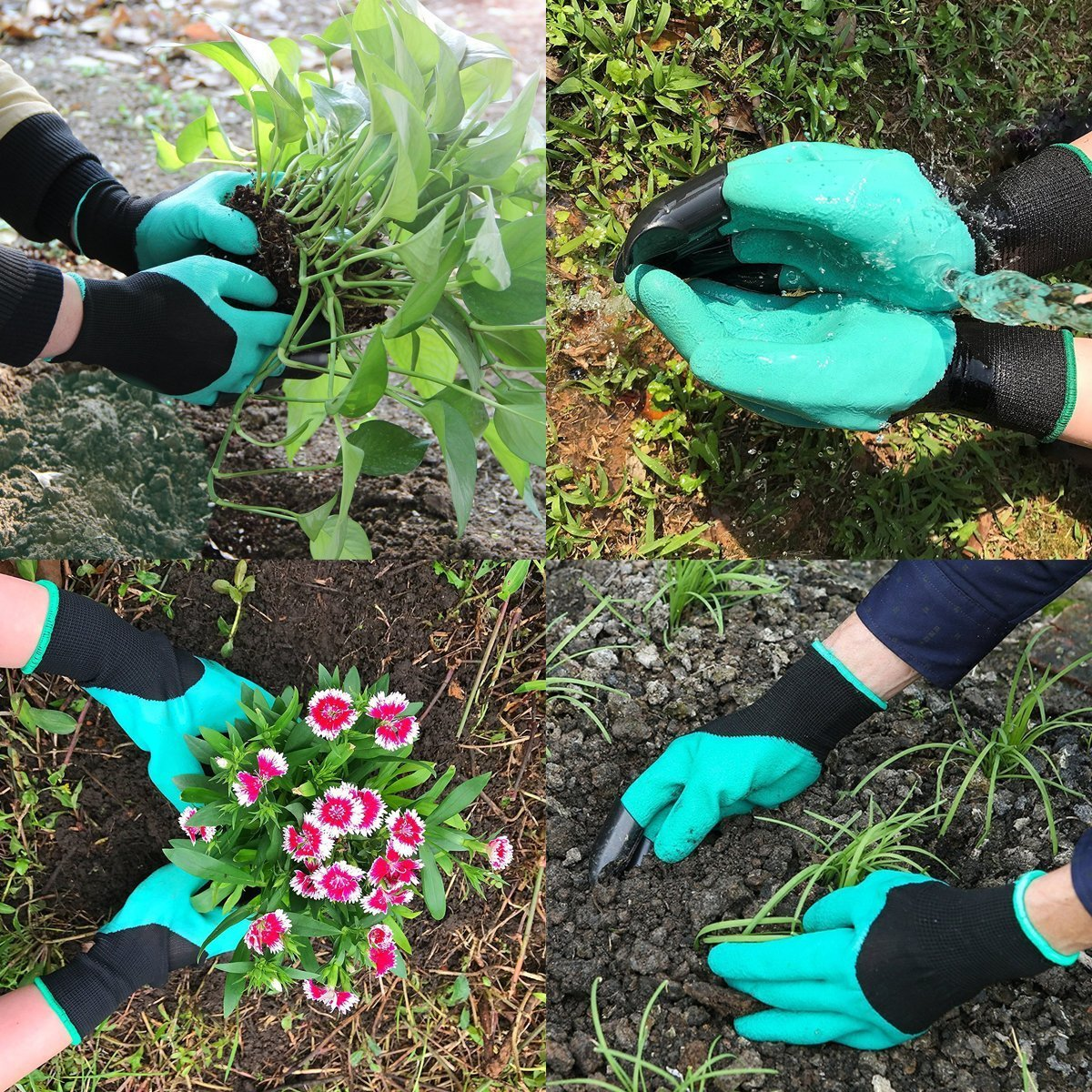 HmiL-U Garden Tool Sets 9 piece Gardening tool with Plant Tie- Garden Tote and Garden Gloves and more Christmas gifts for your parents. by HmiL-U (Image #6)