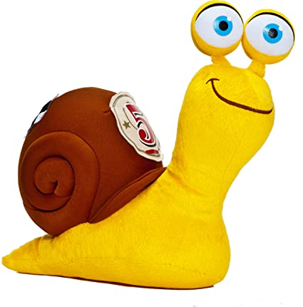 Joy Toy 339885 Turbo - Caracol de peluche (20 cm), color amarillo
