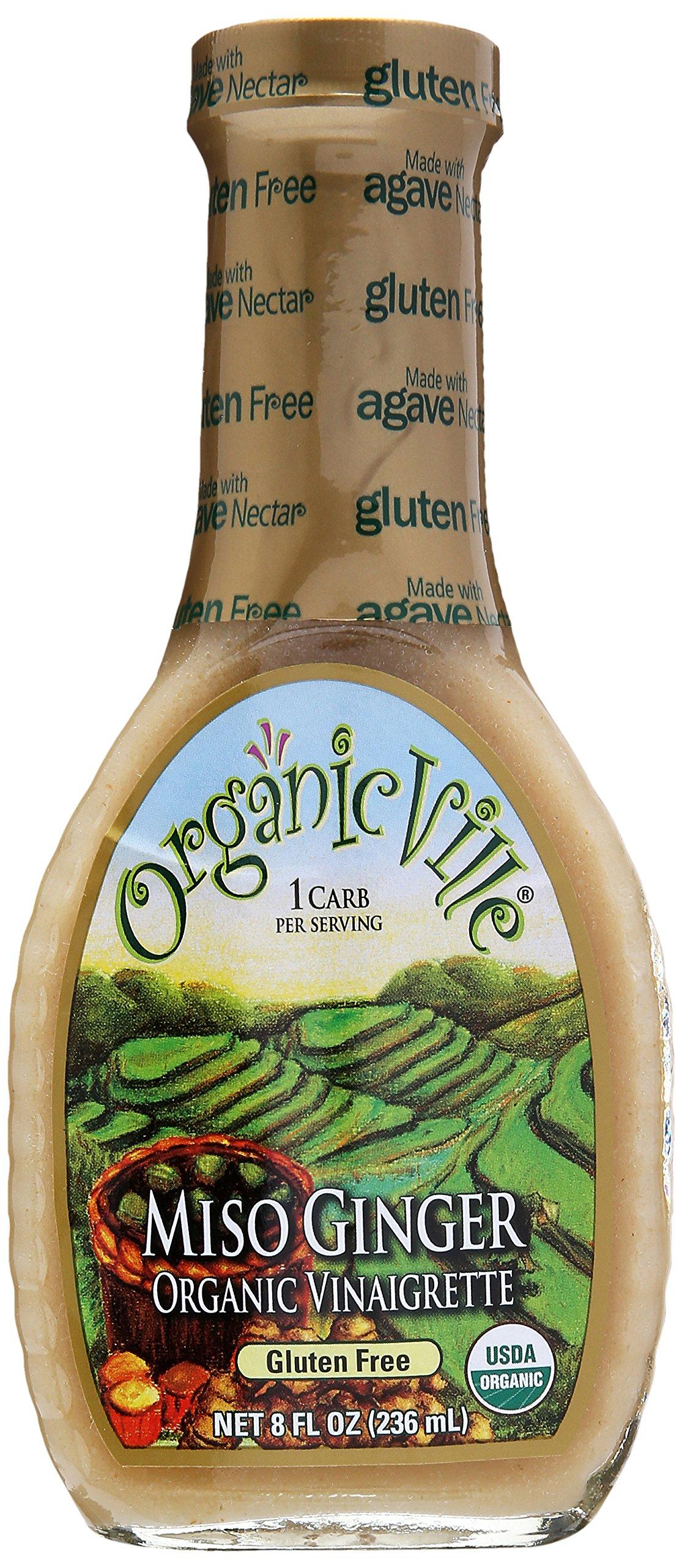 Organicville Miso Ginger Organic Vinaigrette, 8 oz