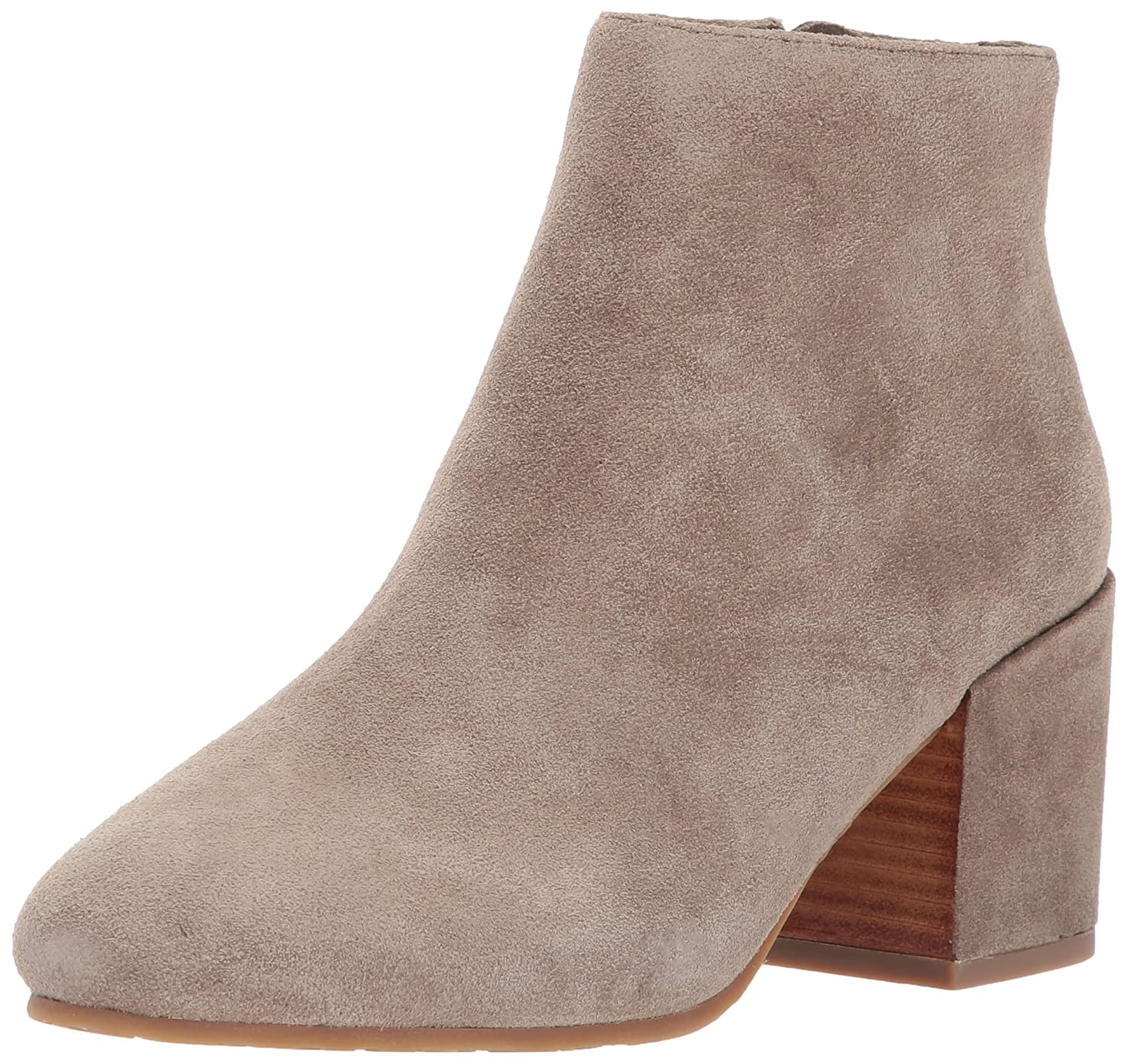 Gentle Souls by Kenneth Cole Women's Blaise Ankle Bootie with Side Zip, Covered Block Heel Suede Ankle Bootie B06XX83WH2 7 B(M) US|Sage