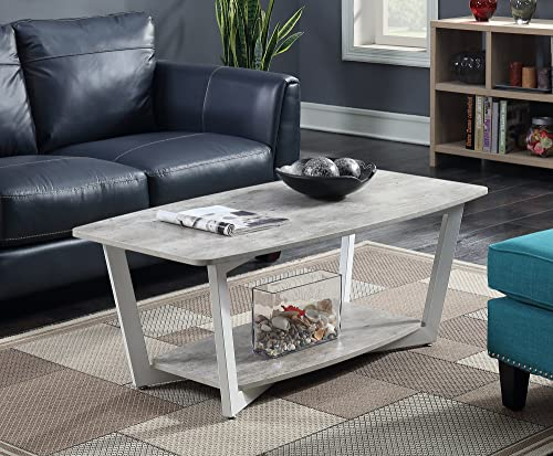 AVE SIX Yield Modern Coffee Table with Chromed Steel Base, Black Glass Top