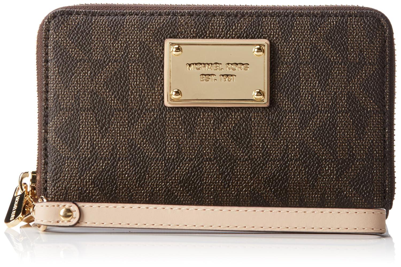 f87eae9bf4f6 ... Michael Kors Jet set Large Flat Phone Case BROWN Handbags Am ...
