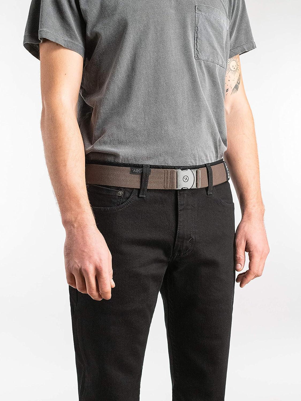resistente fascia elastica Arcade Belt Mens Adventure Ranger Cinture fibbia non metallica da viaggio amichevole