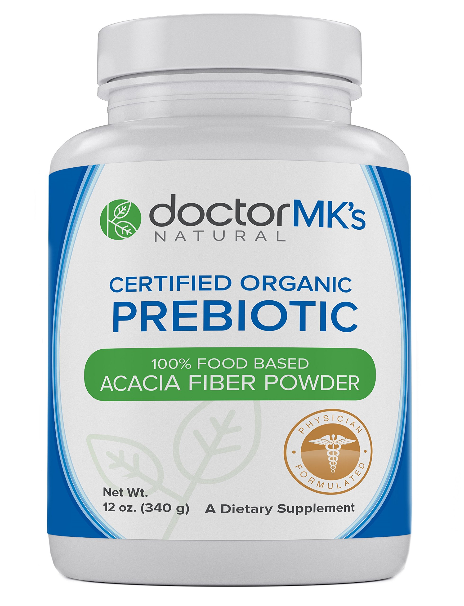 Organic Prebiotic Powder by Doctor MK's® - Unflavored, Prebiotics Acacia Fiber Supplement Promotes Good Bacteria, Digestion, IBS, Weight Loss, 12 oz (340g) by doctor MK's NATURAL
