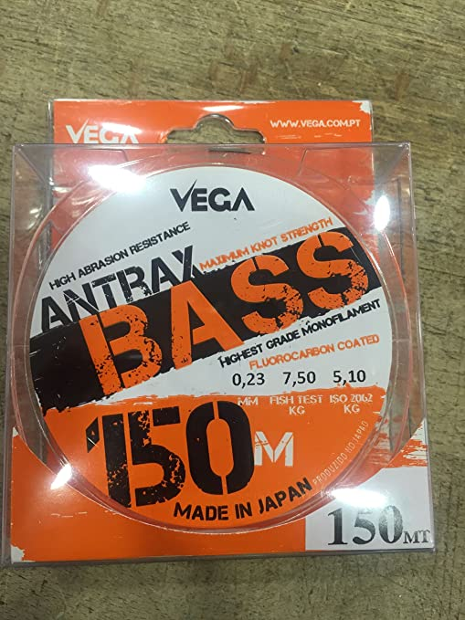 VEGA ANTRAX BASS FLUOROCARBON COATED 150M/0.23MM/7.50KG