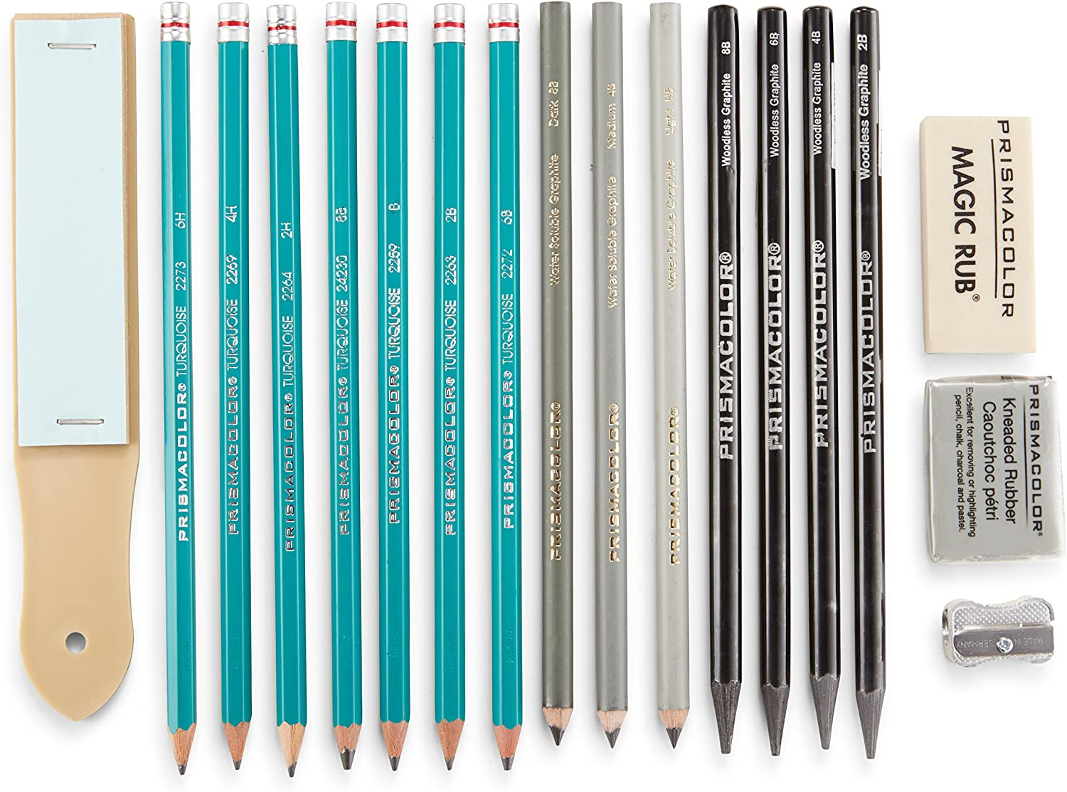 Prismacolor Premier Graphite Pencils with Erasers and Sharpeners, 18 Piece Drawing Pencil Set, Sketching Pencils : Arts And Crafts Supplies : Office Products