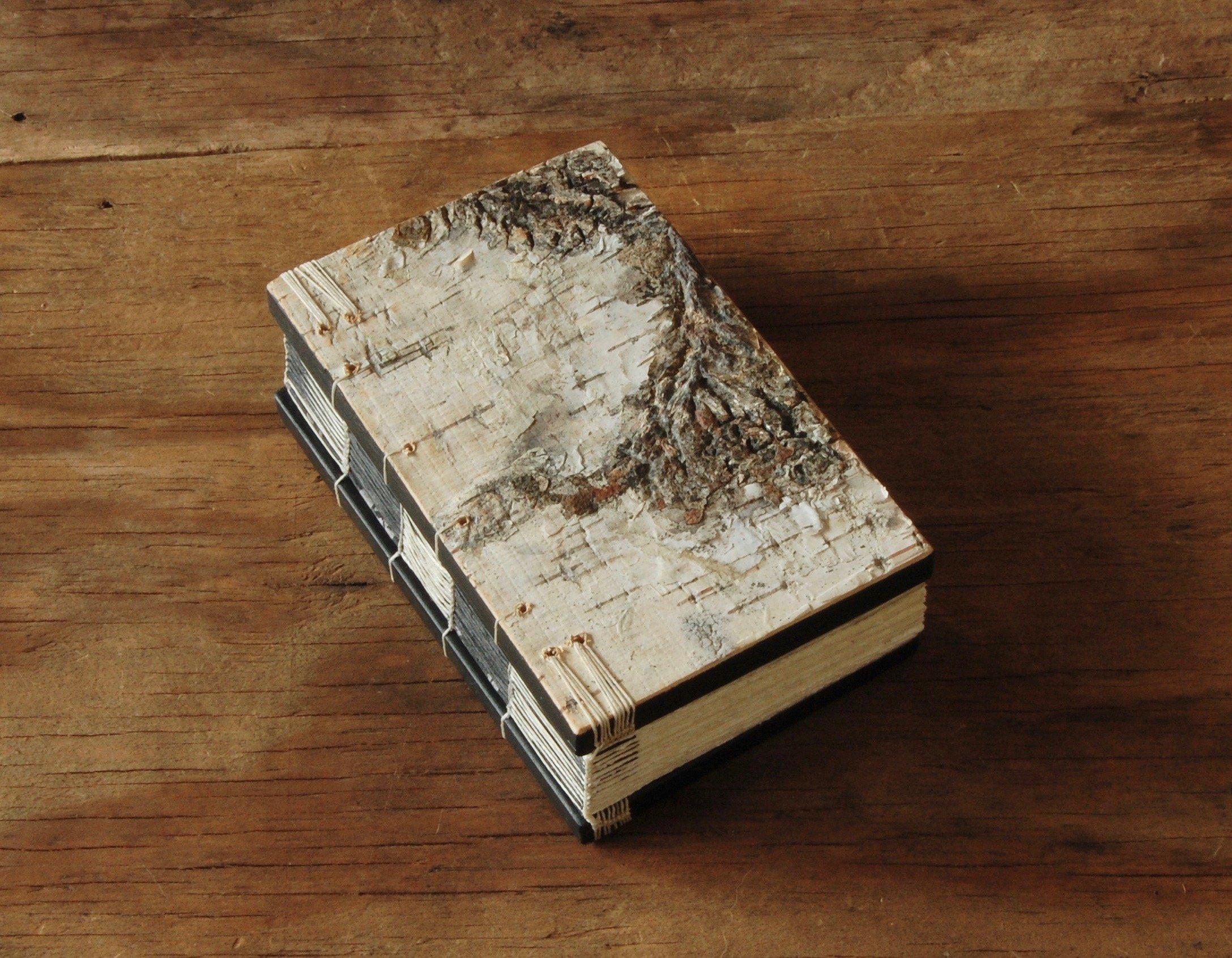Handmade White Birch Wood Pocket Mini Journal