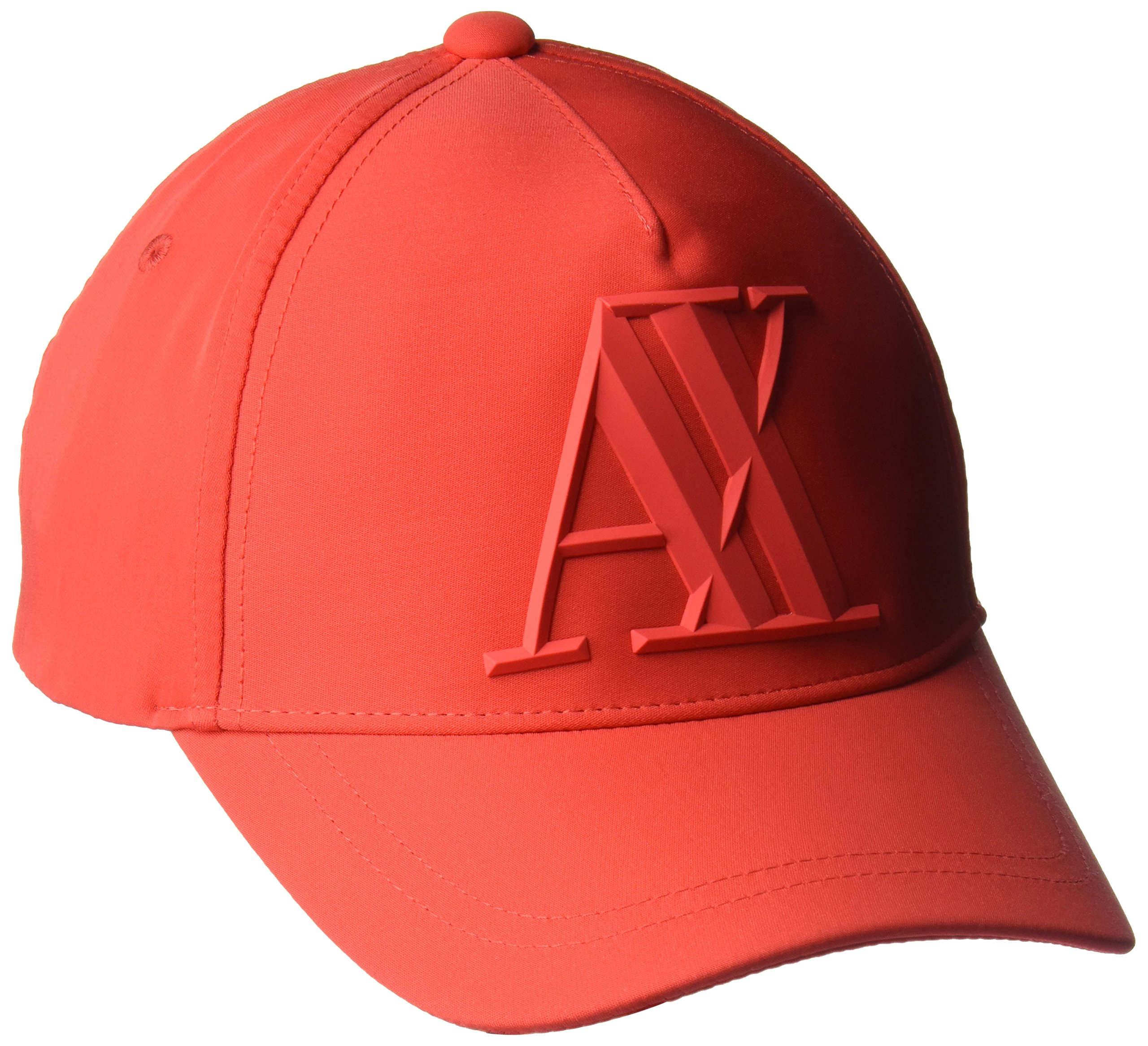 A|X Armani Exchange Men's a|X Logo Hat, Poppy, One Size