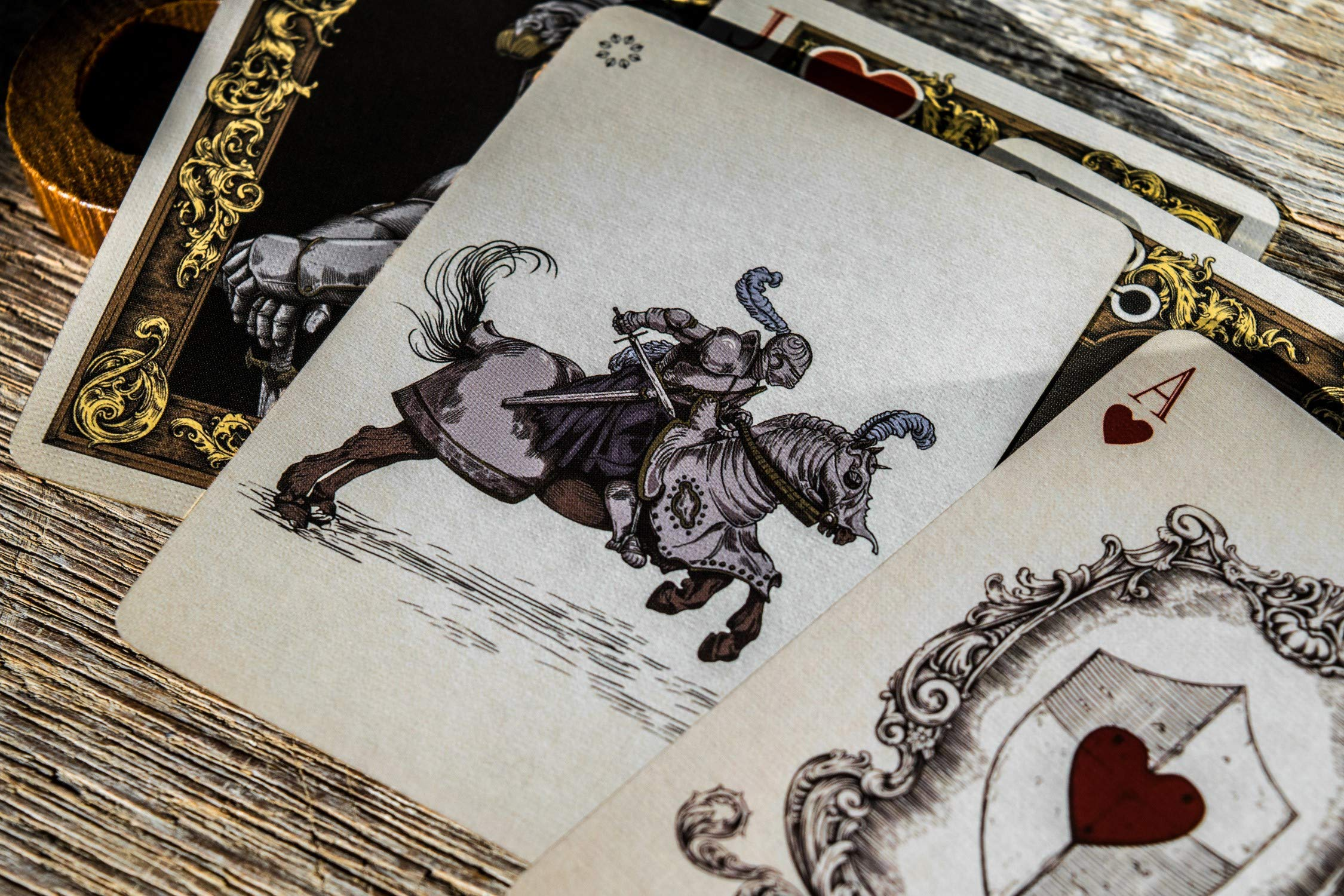 Medieval Royal Playing Cards, Gold Deck of Cards, Cool Magic Cards, Best Poker Cards, Unique Illustrated Foil Colors for Kids & Adults, Playing Card Decks Games, Standard Size by Elephant Playing Cards (Image #9)