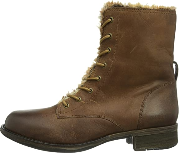 Spm Altamira, Botas Militares para Mujer, marrón-Braun (DK Cuoio ...