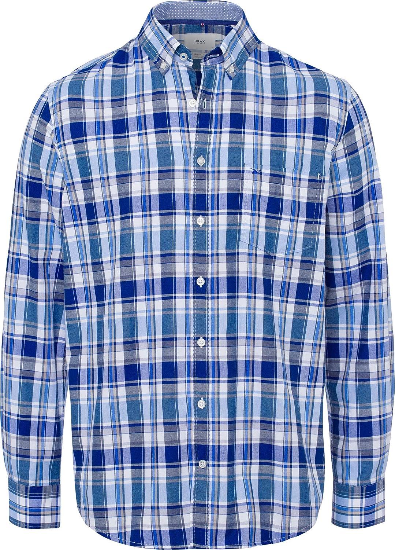 BRAX Style Dries - Camisa de Cuadros para Hombre Azul XL ...