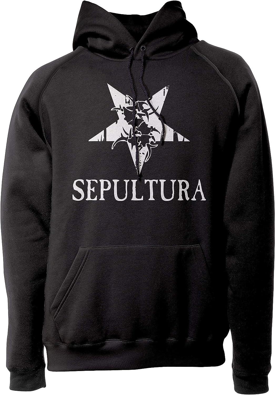 LaMAGLIERIA Unisex-Hoodie Sepultura Reverse Star Logo Kapuzenpullover Metal Rock Band