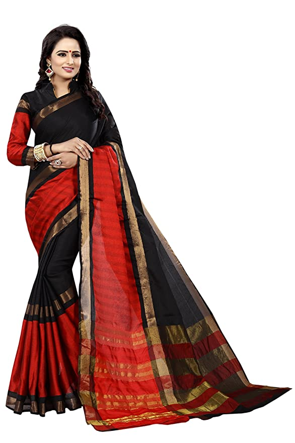 de46ce3d50 Varni Fashion Banarasi Cotton Silk Saree: Amazon.in: Clothing & Accessories