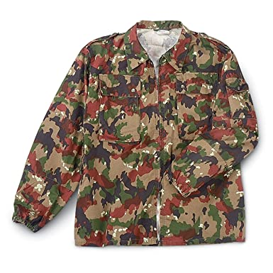 Swiss Army SURPLUS M83 FIELD JACKET ALPENFLAGE CAMO  Amazon.co.uk ... 272ae775f