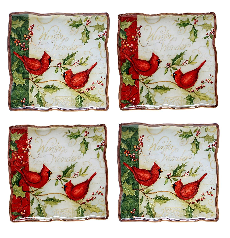 Christmas Cardinal Dinner Plates