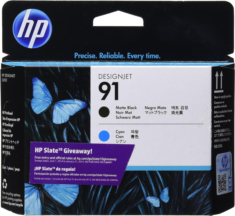 HP C9460A 91 Matte Black and Cyan Printhead Works with Hp Designjet Z6100