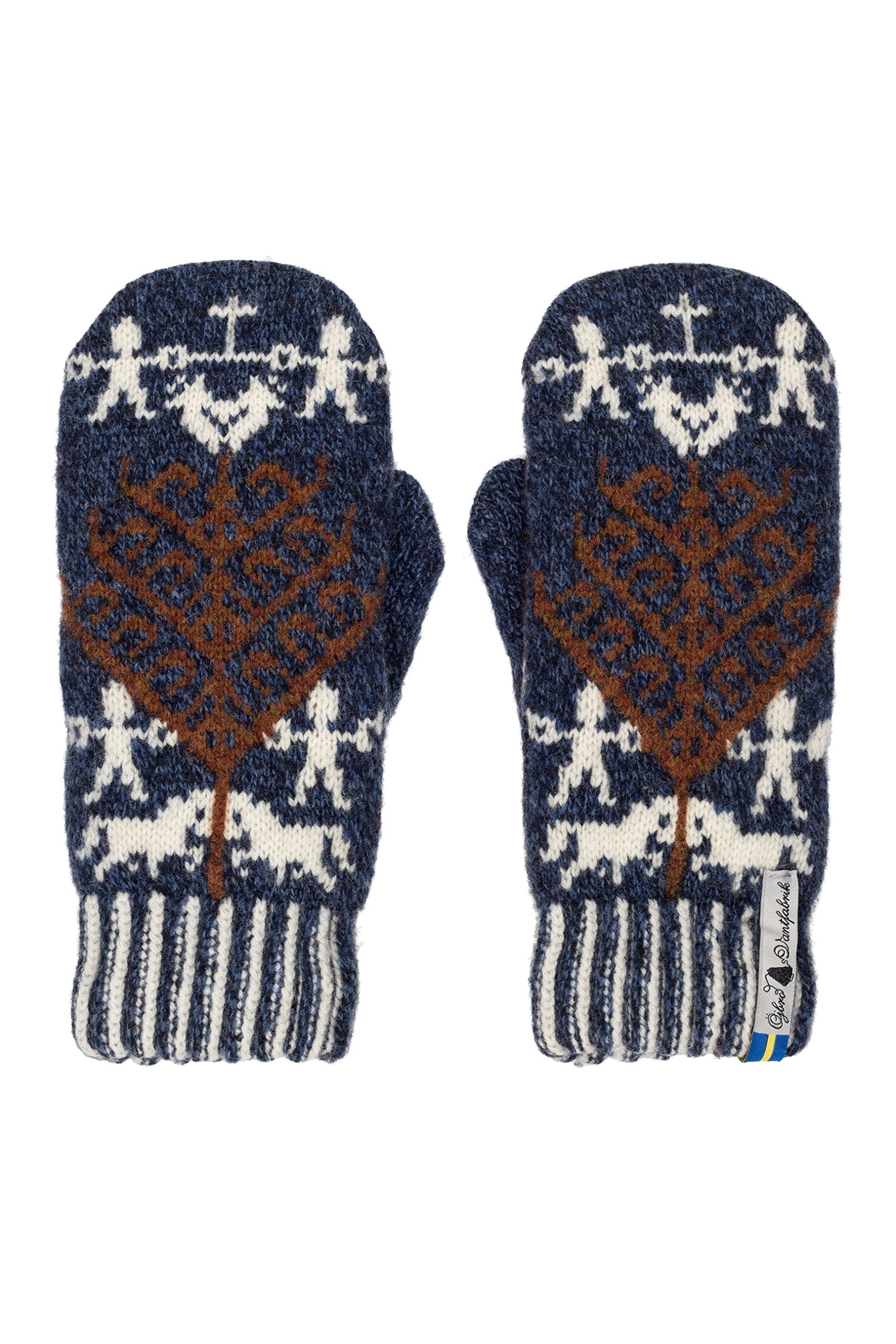 Öjbro Swedish made 100% Merino Wool Soft Thick & Extremely Warm Mittens (Small, Yggdrasil Livtrånad) (Small, Yggdrasil Livtrånad)