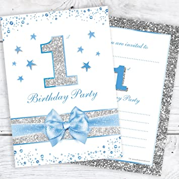 Olivia Samuel First Birthday Party Invitations