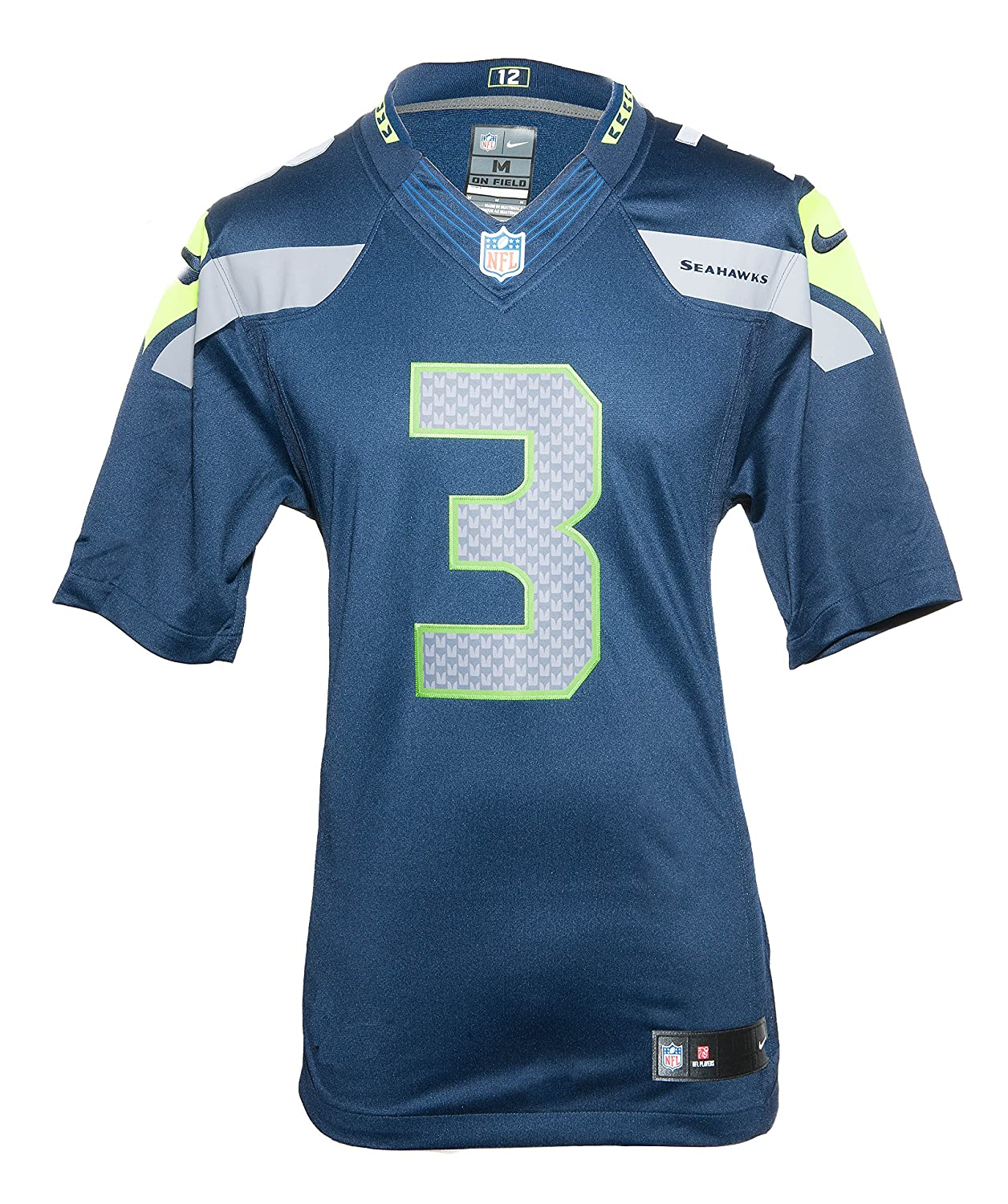 buy popular 5dc51 97051 Nike NFL Men's Seattle Seahawks Russell Wilson Stitched Limited Jersey -  Navy