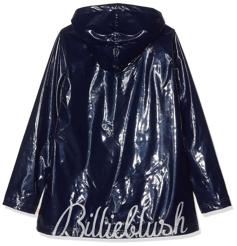 Billieblush Girls Cire Raincoat Navy Blue