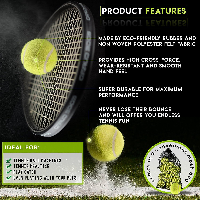 Bramble Set de Pelotas de Tenis duras. Ideales para Deportes ...