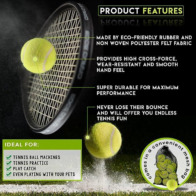 Bramble Set de Pelotas de Tenis Duras. Ideales para Deportes, Partidos y Juegos en la Playa. Incluye Bolsa de Malla para transportarlas: Amazon.es: Juguetes ...
