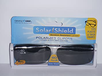 solar shield 60 rec a polarized clip on sunglasses fits plastic frames