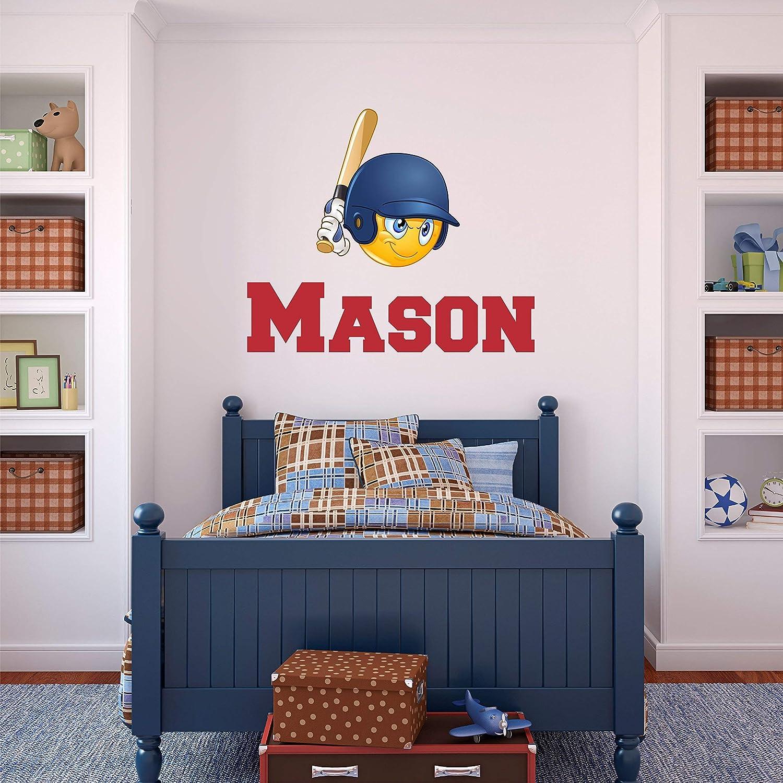 Custom Name Stencil Monogram Boys Girls Personalized Name Baseball Sports Wall Sticker Boys Girls Room Wall Decor /… Custom Name Sports Wall Decal Custom Name Sign
