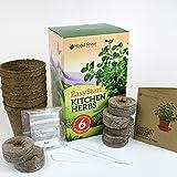 EasyStart Kitchen Garden Herbs - Organic Herb Kit - Everything you need to start 6 organic kitchen herbs