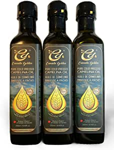 Canada Golden Cold-Pressed Camelina Oil 3 Pack
