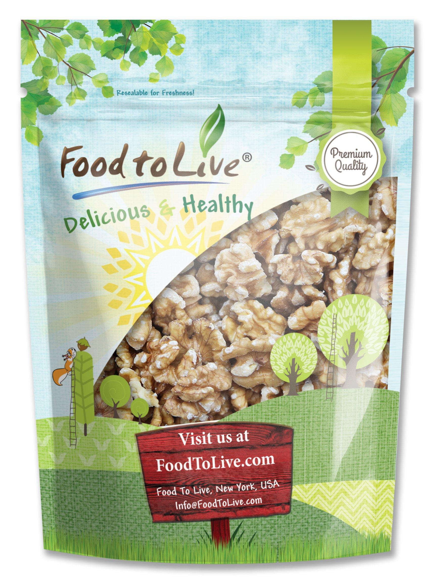 Food To Live Walnuts (Raw, No Shell, Kosher) (8 Ounces)