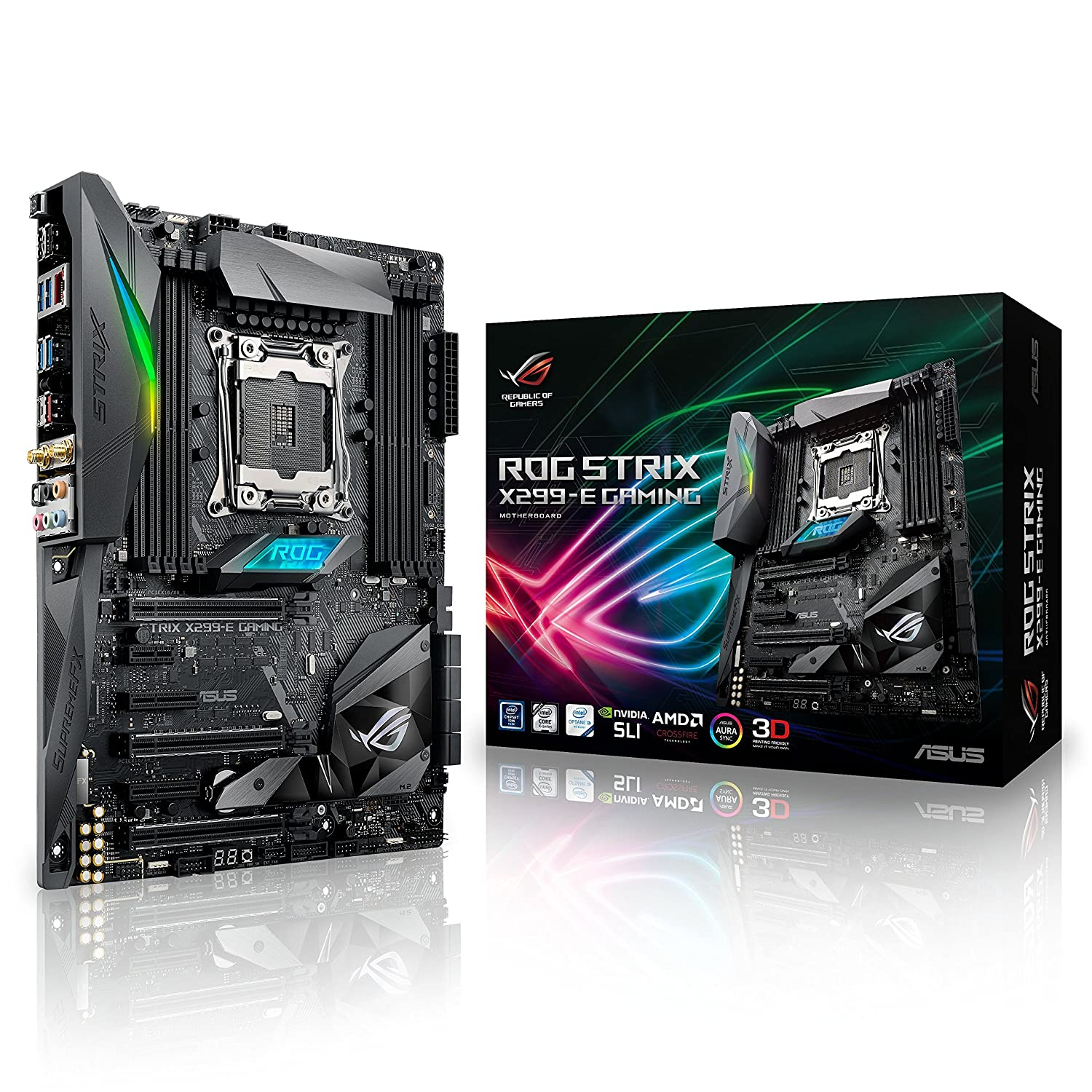 Amazon com: ASUS Intel X299 ROG STRIX X299 E-Gaming X299 Chipset LGA