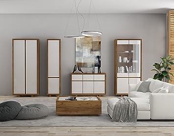 Wohnzimmer Set Wohnwand Aspen Kleiderschrank Couchtisch Kommode