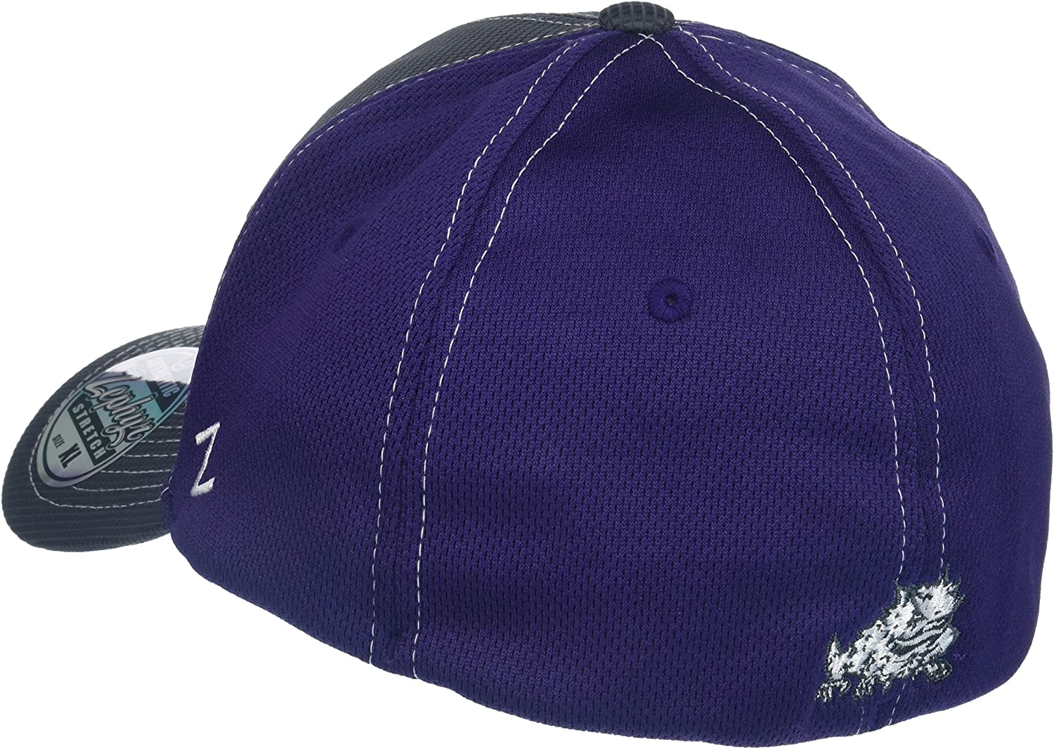 Gray//Team Color X-Large NCAA Zephyr Tcu Horned Frogs Mens Grid Hat